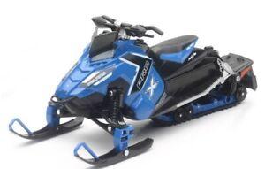 New Ray Toys 1:16 Scale Die Cast Toy Replica Polaris Switchback Pro X 800 Blue