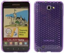 Nuevo diseño de Samsung Galaxy Note I9220 diamante caso de gel de silicona-Púrpura