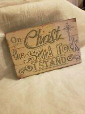 New On Christ the Solid Rock I Stand Scripture Wooden Rustic Home Wall Decor