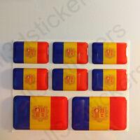 Pegatinas Andorra Pegatina Bandera Andorra Vinilo Adhesivo 3D Relieve Resina