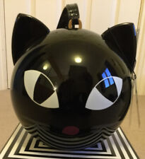 New With Tags, Dust Bag And Box LULU GUINNESS Black Kooky Cat Perspex Orb Bag