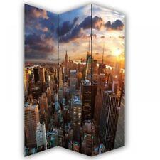 NEW YORK SKYLINE NY CANVAS DRESSING PRIVACY SCREEN FOLDING 3 PANEL ROOM DIVIDER