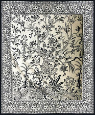 Negro Y Blanco Algodón árbol de la vida XL Sofá Cubierta De Cama King Colcha Cobertor extendido