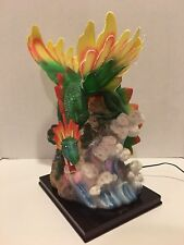 Fiber Optic Color Changing Lighted Dragon Figure - By Protected Tested Working!