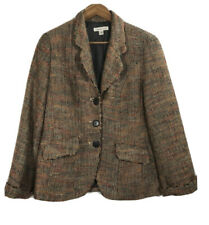 Coldwater Creek Women's Size 8 Tweed Multicolor Blazer Front Button Jacket