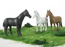 New Bruder Toys Horse Figures 1:16 Scale - Bruder 02306 - 3 Pk Dark White Brown