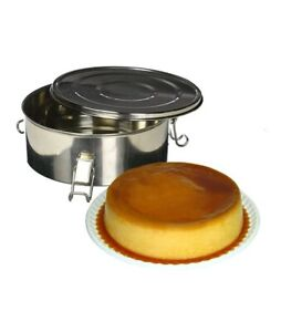 Flanera Original Flan Mold Flan MAKER 1.5 Qt with lid with handle lock stainless