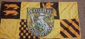 Harry Potter Hufflepuff Quidditch Banner Flag.