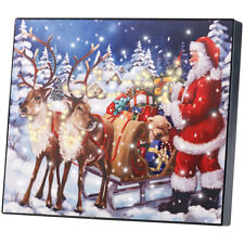 """LED Weihnachtsbild: LED-Bild """"Weihnachtsmann mit Rentierschlitten"""", 28 x 23 cm"""