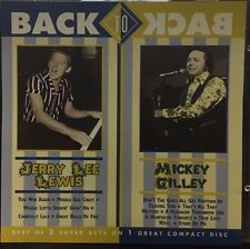 BACK TO BACK - JERRY LEE LEWIS MICKEY GILLEY - 10 TRACK MUSIC CD - LIKE NEW G610