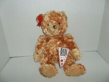 "walt disney high school musical brown teddy bear plush cheerleader 14"" tall"