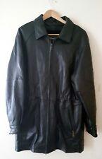 MARCIA COLLECTION ITALY Lamb Genuine Leather Black Coat Jacket Women's Sz M EUC!