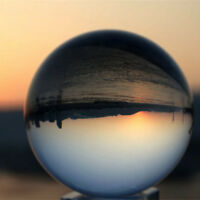 """100mm 4"""" Clear Photographic Crystal Ball Natural Round Quartz Healing Sphere"""
