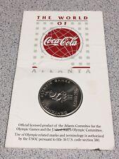 The World Of Coca Cola Round Bar Coin Centennial 100 Olympic Games Atlanta 1996