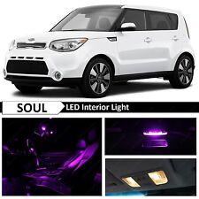 11x Purple LED Interior Light Package Kit for 2014-2016 KIA Soul