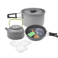 Outdoor Camping Pot Set Cooking Picnic Cookware All in One 2 - 3 Person VS J3F7