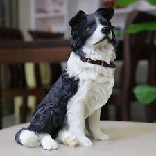 Resin MINI sit Border Collie dog Hand Painted simulation model Figurine statue
