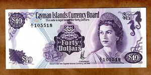 Cayman Islands Currency Board 40 Dollars 1974 (ND 1981) Pick 9a