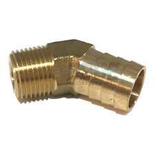 3/4 HOSE BARB X 1/2 MALE NPT Brass ELBOW 45 DEGREE Pipe Fitting Thread Gas Fuel
