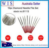10/PK Mini Diamond Needle File Set,150 Grit Precision Diamond Files -81113