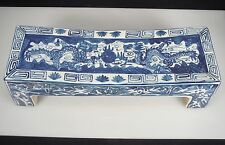 Chinese Blue and White Porcelain DRAGONS Headrest Pillow