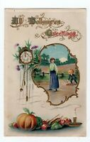 1912 Gottschalk Dreyfuss & Davis  Embossed Halloween Greeting  Series 2516