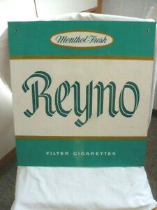 Zigarettenwerbung Reyno Menthol Fresh Schild Reklame vintage Tabak Lebensmittel