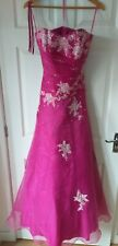 Soft Satin Prom Dress, Fuchsia/silver Size 12 Blue Moon by Romantica New other