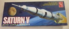 AMT Round 2 1/200 Saturn V NASA Rocket W/ Eagle Lunar Module Model Kit