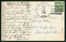 Mayfairstamps US 1950 Clam Lake WI Prexie to Greendale Postcard wwo90407