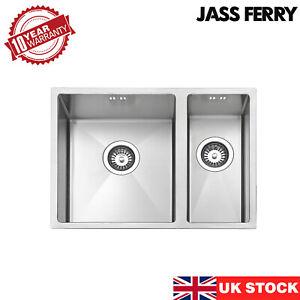 JASSFERRY Premium Handmade 1.2mm Undermount Stainless Steel Kitchen 1.5 Bowl