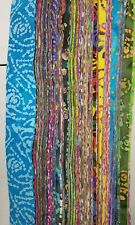 """40-2.5"""" MIXED colors, BATIK strips, jelly roll, quilt, cotton fabric-grab bag"""