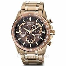 -NEW- Citizen Perpetual Chrono Atomic Timekeeping Eco-Drive Watch AT4106-52X