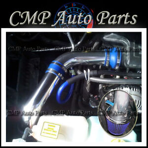 BLUE 2002-2010 DODGE RAM 1500 3.7L V6 4.7L V8 COLD AIR INTAKE KIT SYSTEMS