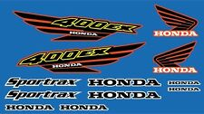 400ex Decals honda Graphics 12pc kit ATV QUAD Gen 1 Black / Yellow / Red
