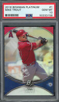 Mike Trout Los Angeles Angels 2016 Bowman Platinum Baseball Card #1 PSA 10