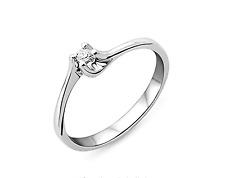 Miore Damen-Ring 375 Weißgold mit Brillant 0.04ct M9004RP- Gr.58 S1#67
