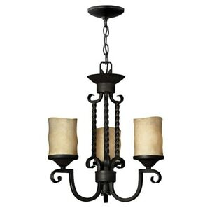 Hinkley Lighting Casa 3 Light Chandelier, Olde Black - 4013OL