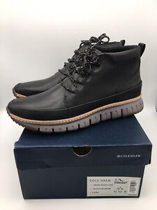 Cole Haan Zerogrand Rugged Chukka Boot Black Leather C31412 Men's Size 10.5 M