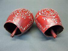 Konvolut Von 2 Campanas de Navidad de Metal 8Cm X 6Cm Metallglocke Rojo