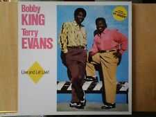 Disque vinyle lp Bobby KING- Terry EVANS- Ry COODER. Live and Let Live !