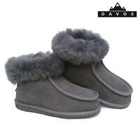 Lara Ladies Women's Deluxe 100% Pure Twinface Sheepskin Boots Slippers EVA Sole