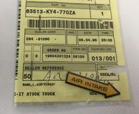 Adesivo presa aria  Sx - Mark air intake L. - Honda NSR125 NOS: 83513-KY4-770ZA