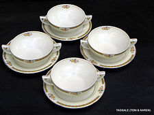 Antique Grindley  China ~ Alton Pattern ~ Lot of 4 ~ Cream Soup  & Saucer Sets