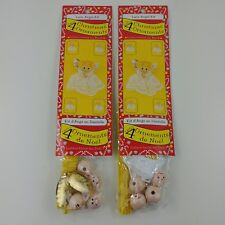 ie 2 NEW Fibre Craft Lace Angel Kits Christmas Ornaments Gold Wings - 8 ANGELS