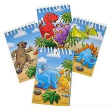 4 x DINOSAURI ANIMALI Block Notes-Bambini Scuola Cartoleria Regalo Festa Borsa Filler