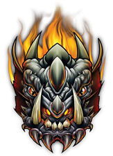 """Dragon"" Temporary Tattoo, Flaming Dragon Head w/ Fangs & Fire, USA Made"
