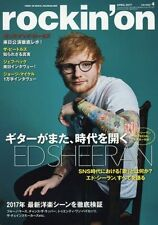 rockin'on  April 2017  cover- ED SHEERAN / Music magazine / from Japan