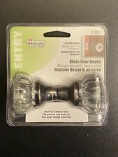 Defender Security E 2537 Mortise Style Fluted Glass Door Knobs - Perfect for on