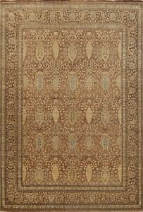 Vegetable Dye Floral Oriental Area Rug Hand-Knotted Wool 9x12 Traditional Carpet